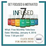 Free Teleclass: Get Focused and Motivated with Essential Oils!